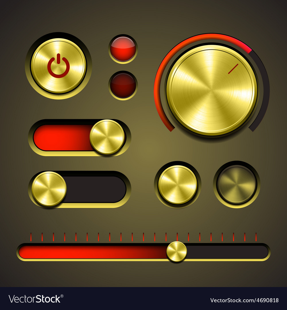Set of the detailed ui elements vector | Price: 3 Credit (USD $3)