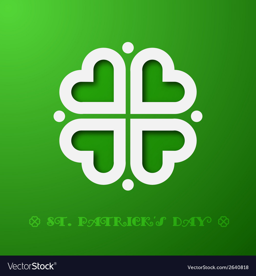 Stylized clover vector | Price: 1 Credit (USD $1)