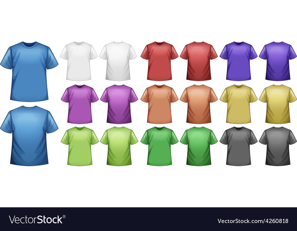 T shirts vector | Price: 1 Credit (USD $1)