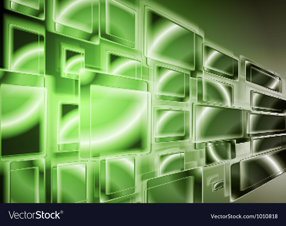 Technology green design vector | Price: 1 Credit (USD $1)