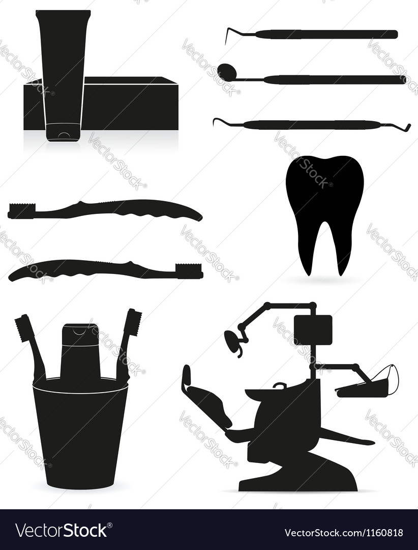Working set dental icons vector | Price: 1 Credit (USD $1)