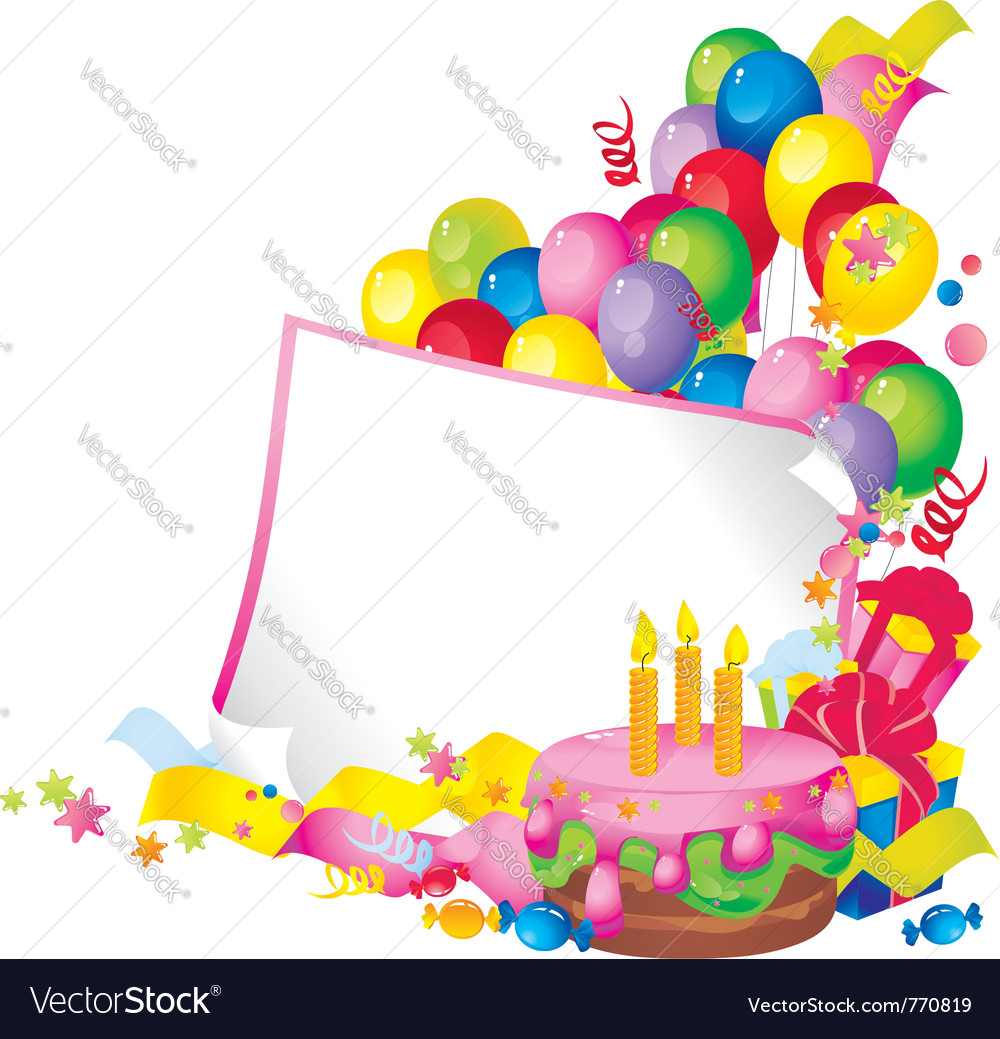 Birthday celebration vector | Price: 1 Credit (USD $1)