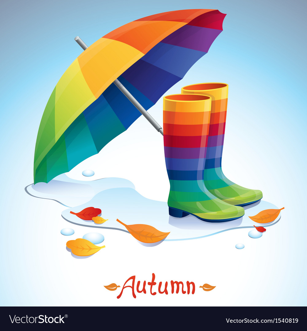 Bright autumn background vector | Price: 1 Credit (USD $1)