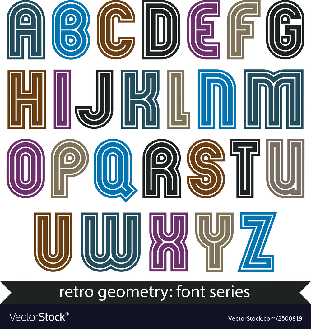 Colorful regular stripy typescript poster vector | Price: 1 Credit (USD $1)