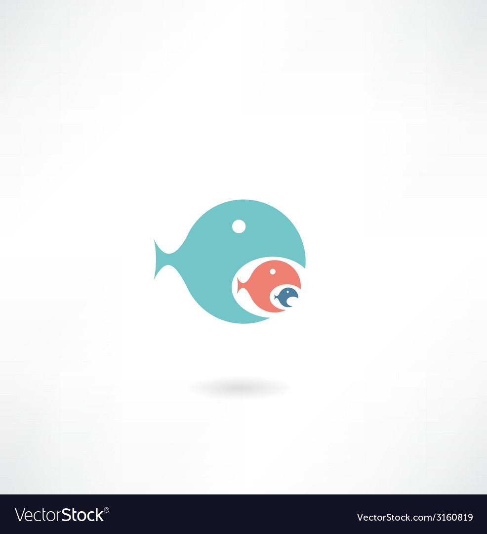Fish icon vector | Price: 1 Credit (USD $1)