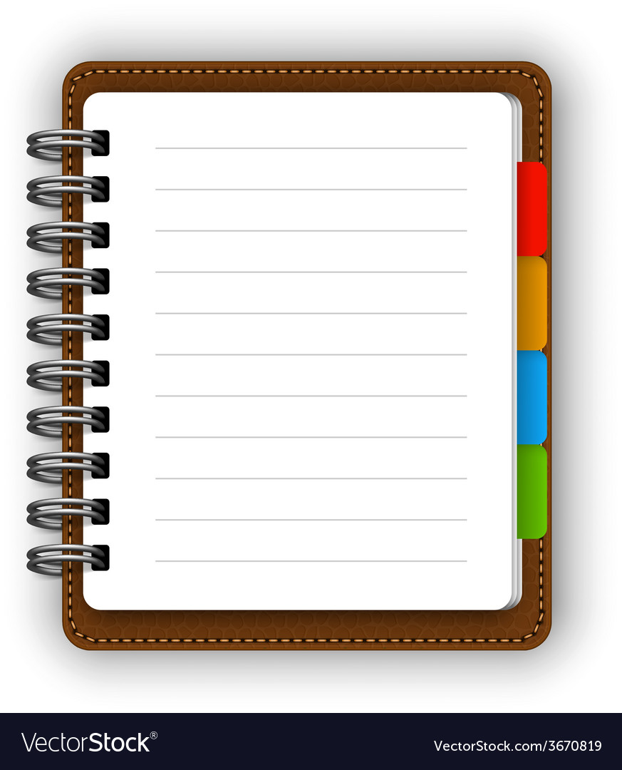 Leather notebook vector | Price: 1 Credit (USD $1)
