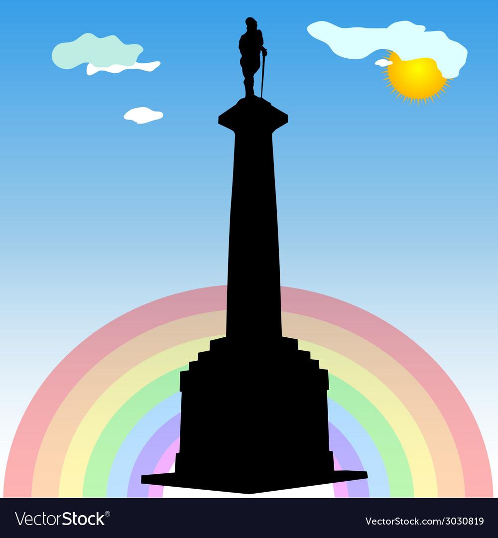 Monument of belgrade winner silhouette vector | Price: 1 Credit (USD $1)