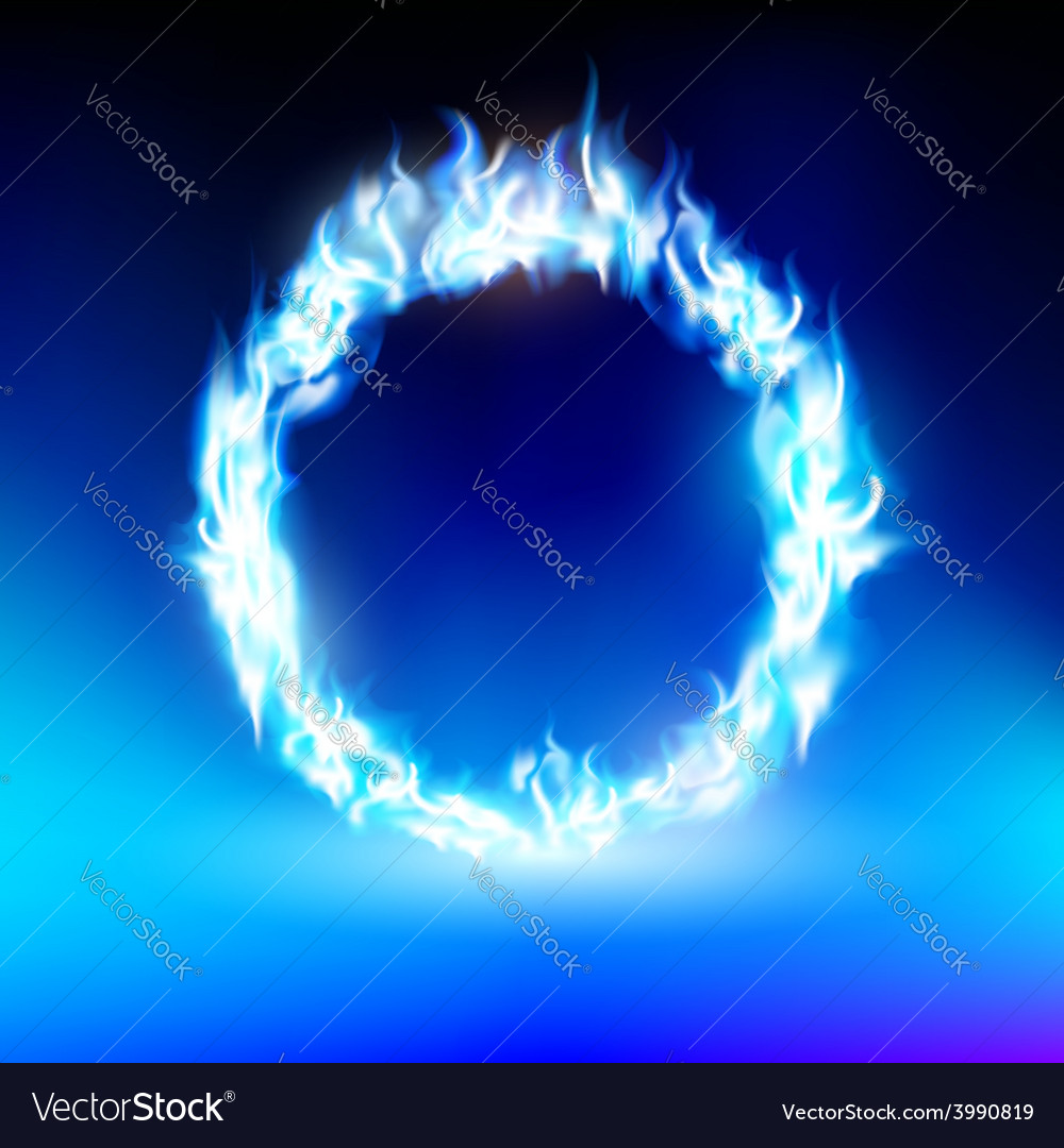 Ring with a blue flame vector | Price: 1 Credit (USD $1)
