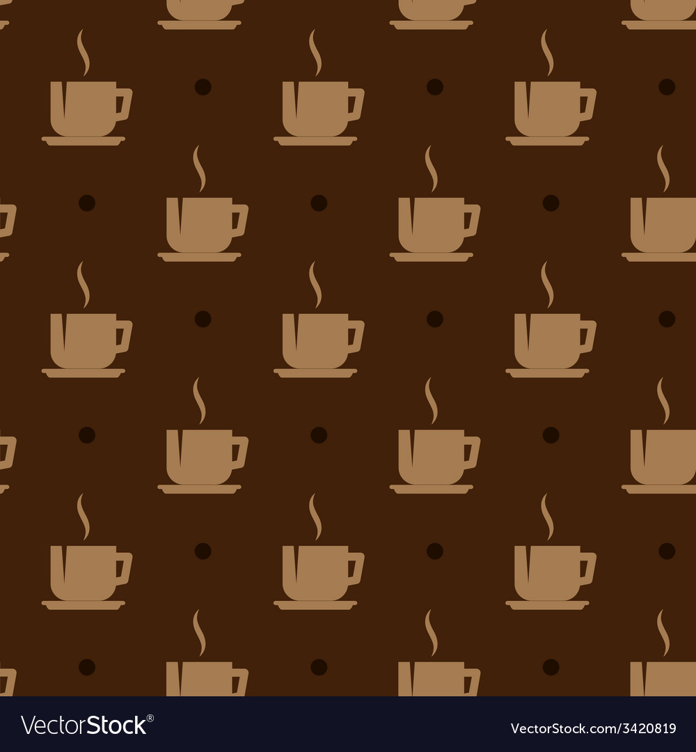 Seamless background with coffee cups vector | Price: 1 Credit (USD $1)