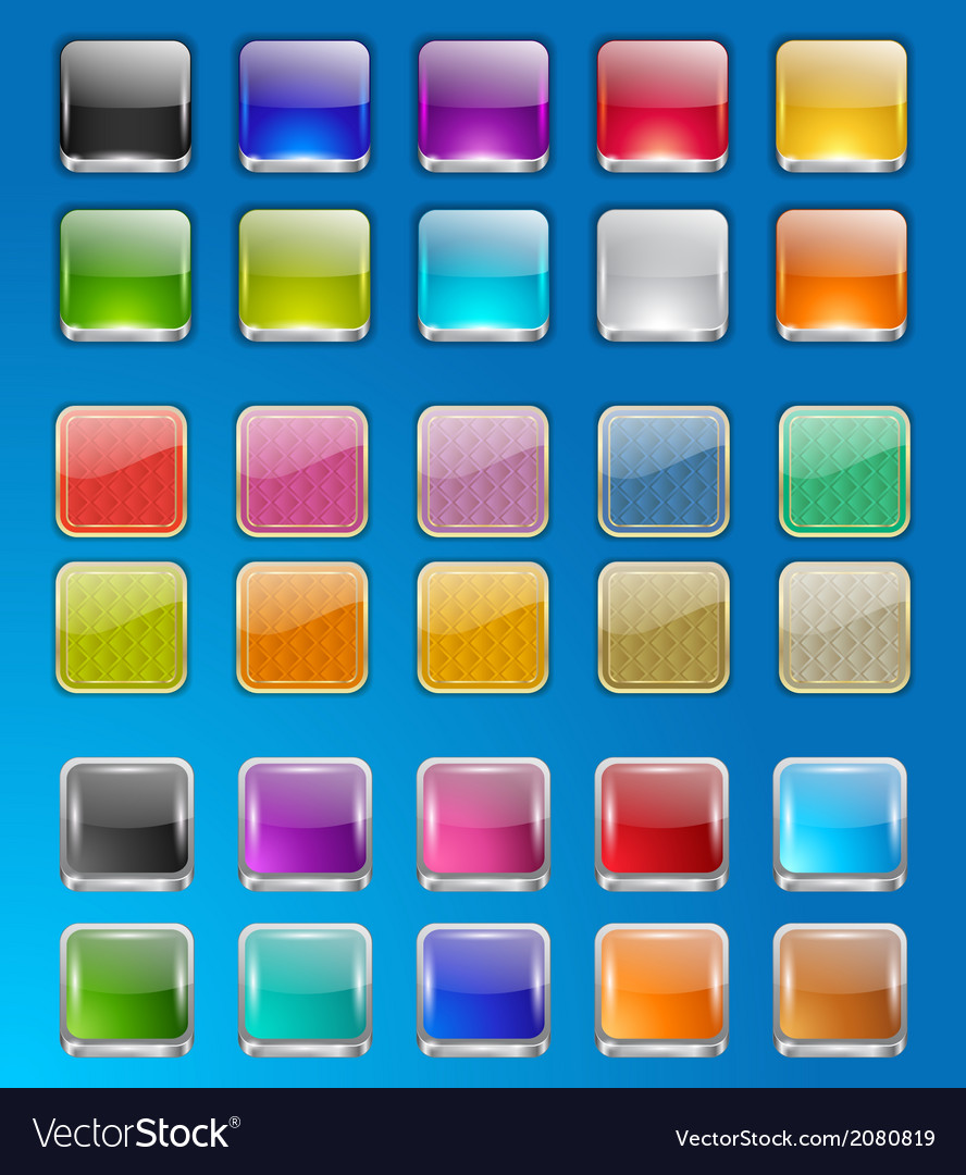 Set of empty buttons vector   Price: 1 Credit (USD $1)