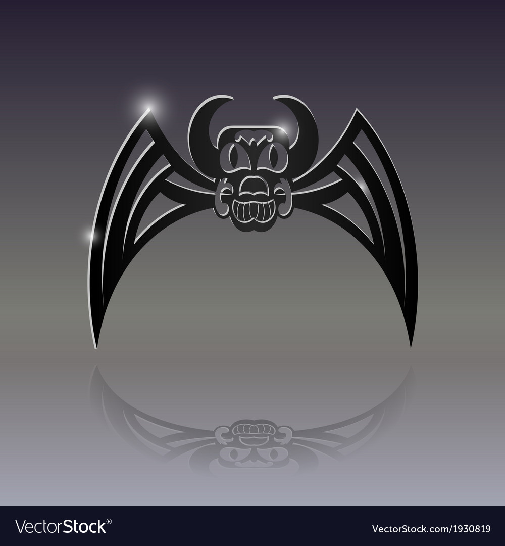 Sign of the bat tattoo vector | Price: 1 Credit (USD $1)