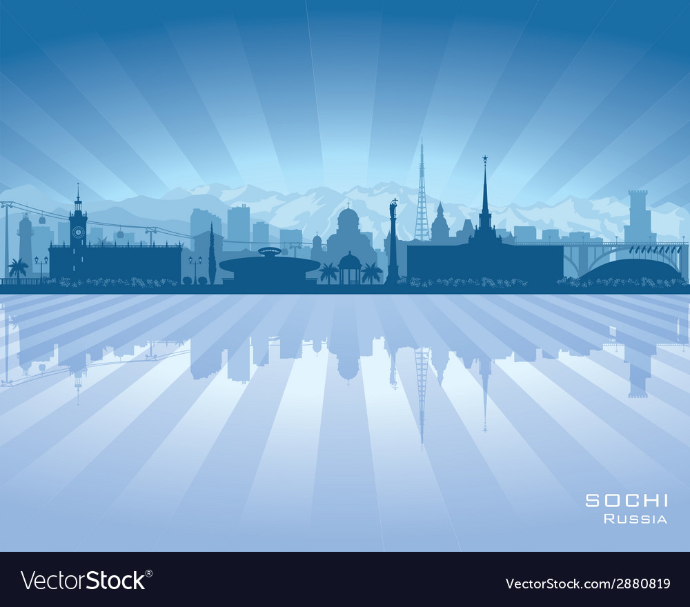 Sochi russia skyline city silhouette vector | Price: 1 Credit (USD $1)