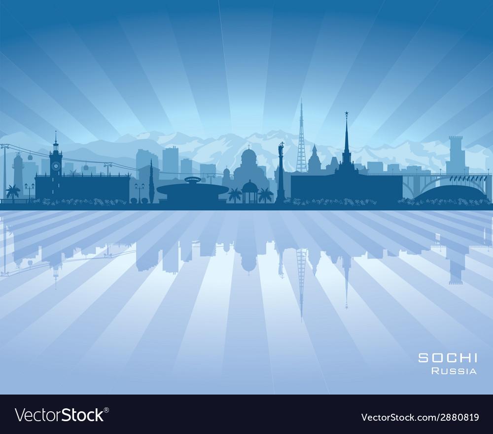 Sochi russia skyline city silhouette vector | Price: 1 Credit (USD $1)