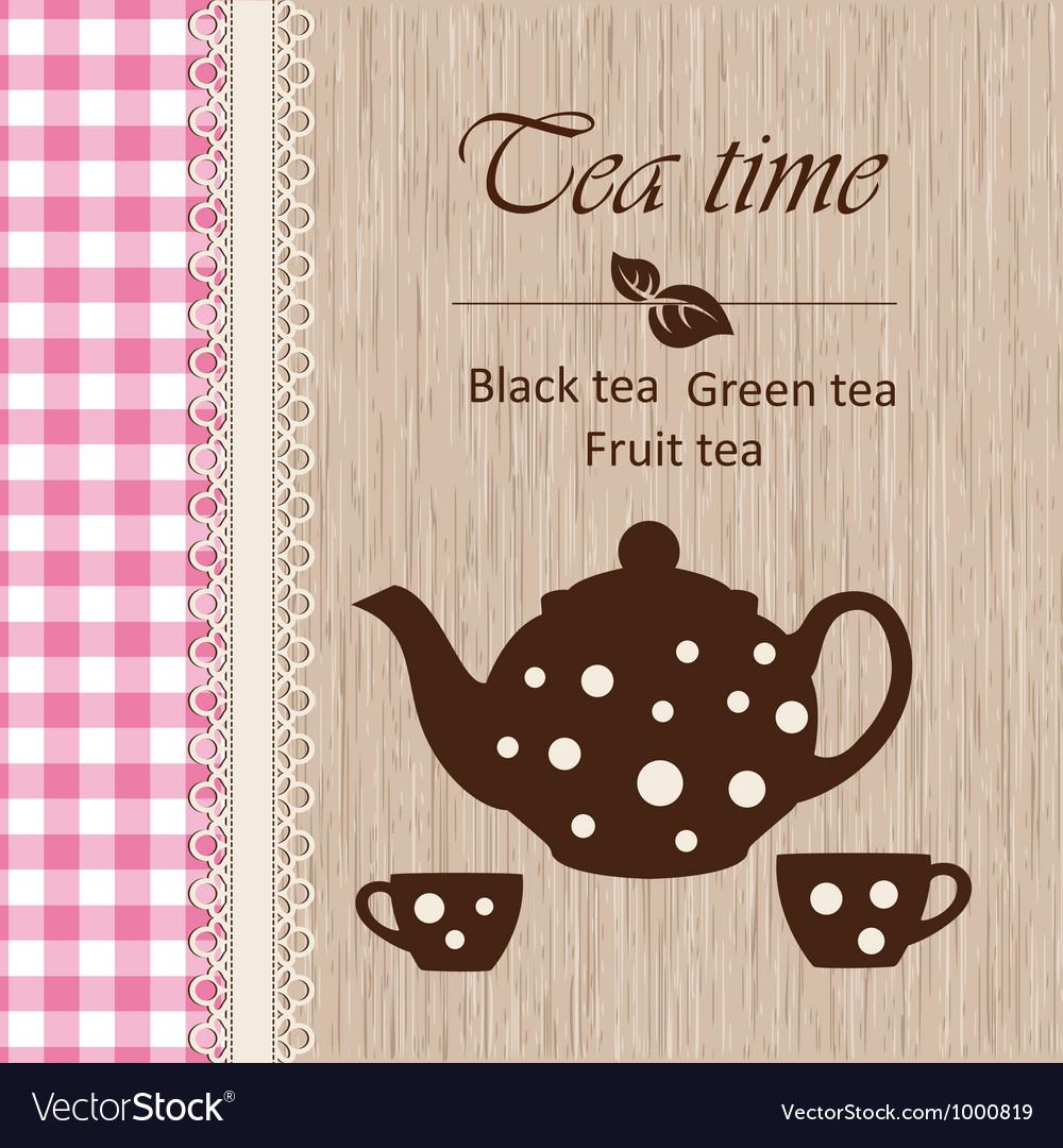 Tea time vector | Price: 1 Credit (USD $1)