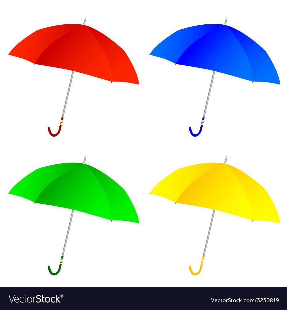 Umbrella color vector   Price: 1 Credit (USD $1)