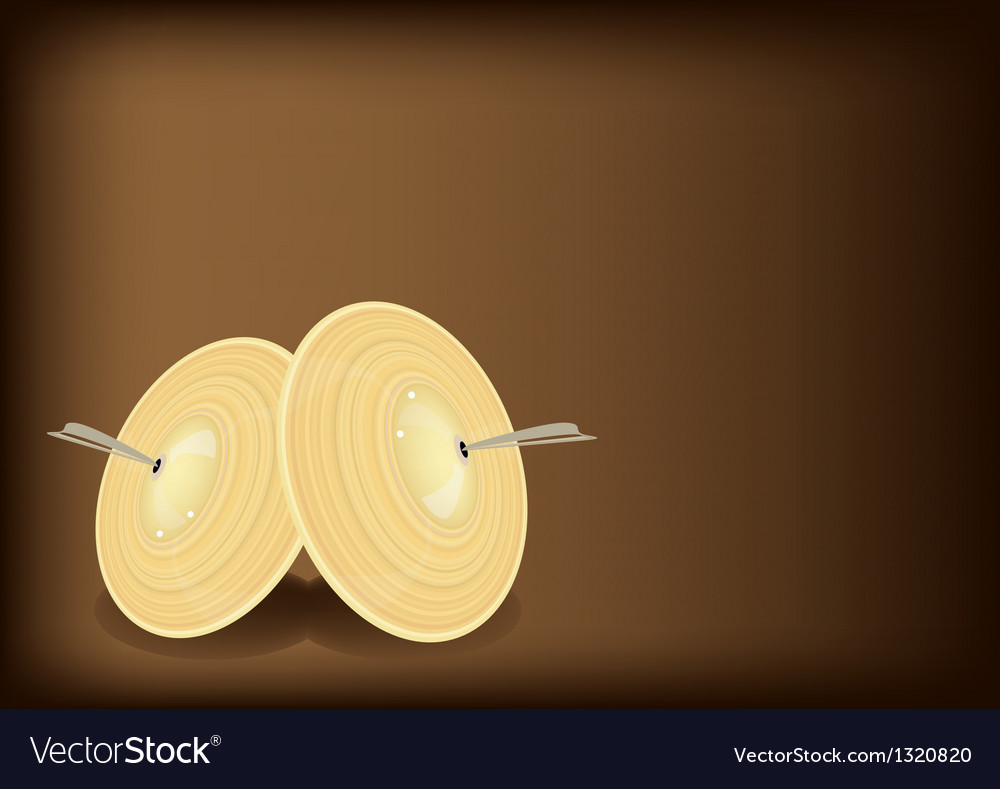 A beautiful cymbal on dark brown background vector | Price: 1 Credit (USD $1)