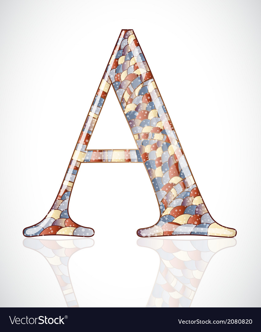 Abstract letter a vector | Price: 1 Credit (USD $1)