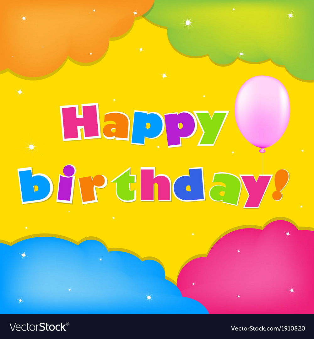 Card happy birthday vector | Price: 1 Credit (USD $1)