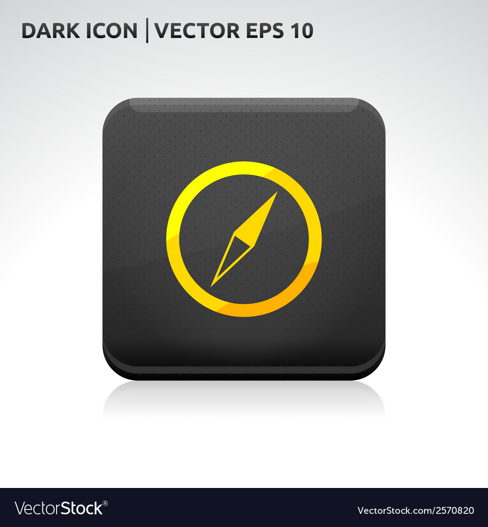 Compass icon gold vector | Price: 1 Credit (USD $1)