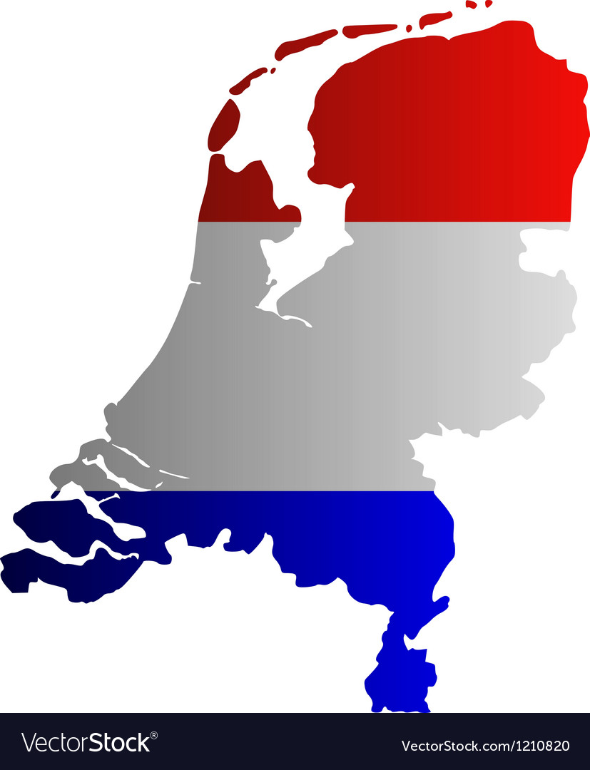 Map and flag of the netherlands vector | Price: 1 Credit (USD $1)