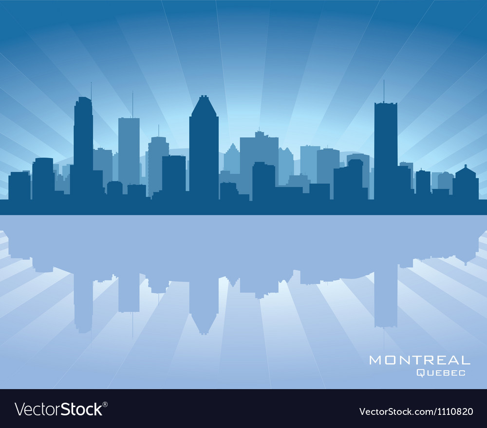 Montreal canada skyline vector | Price: 1 Credit (USD $1)