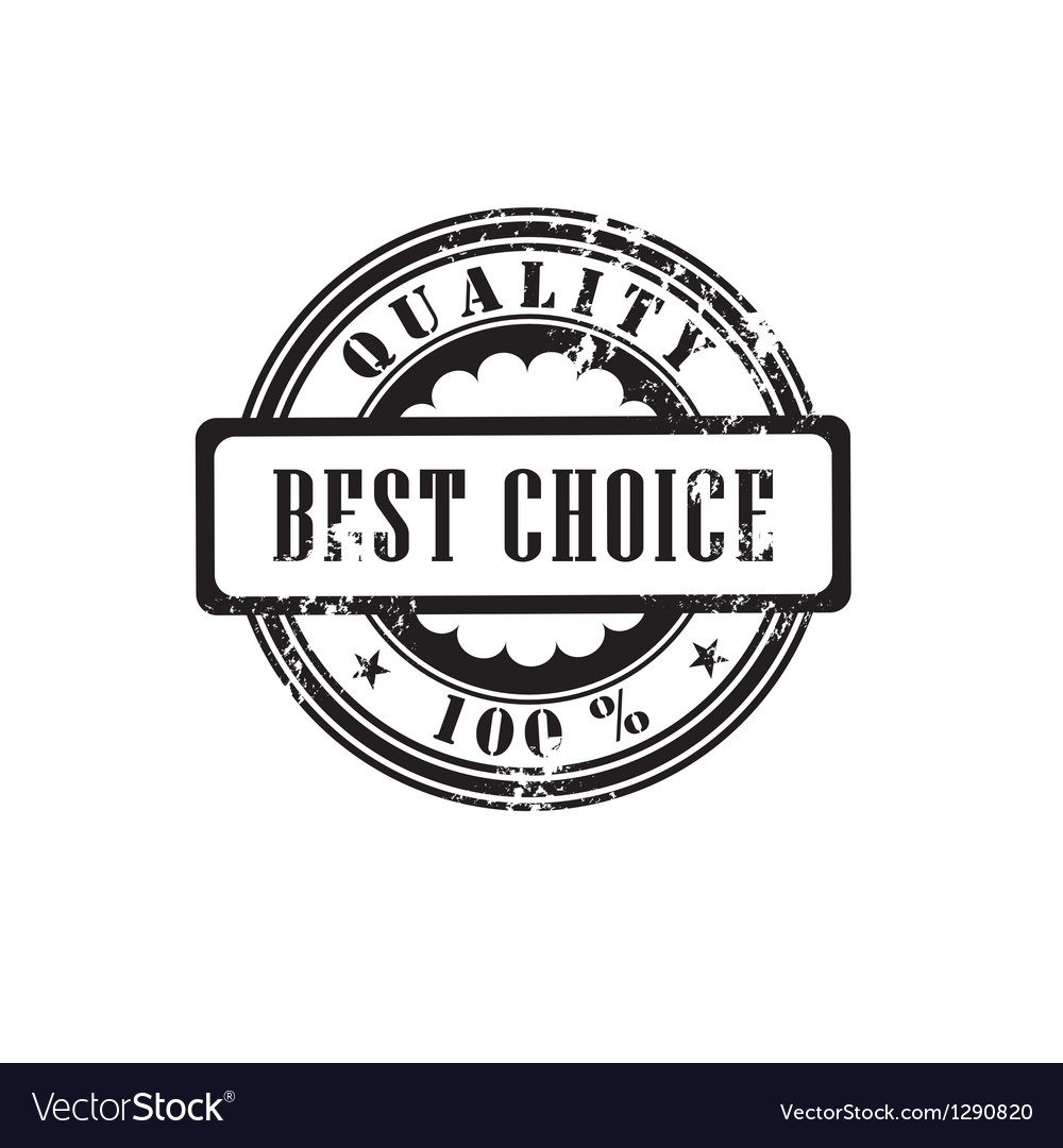 Rubber stamp best choice in vector | Price: 1 Credit (USD $1)