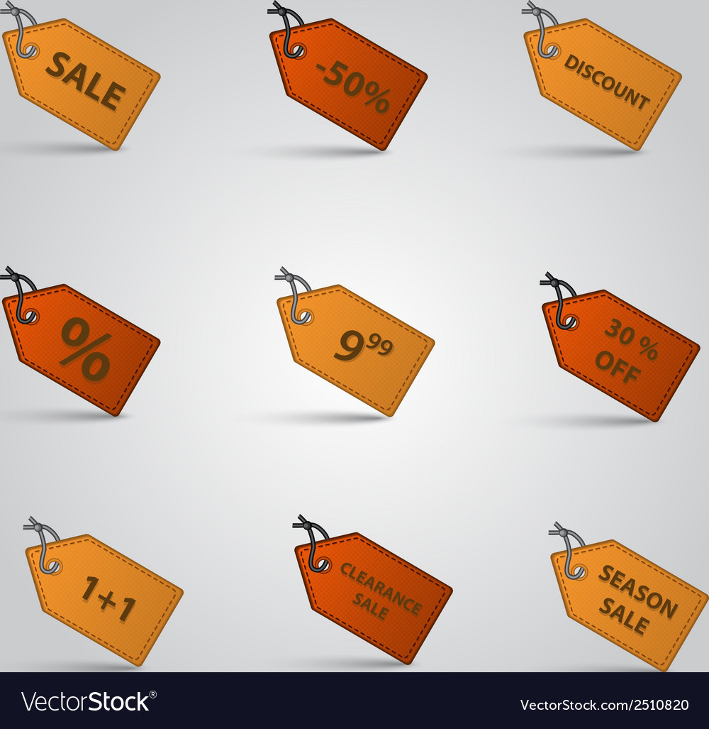 Sale and price label set eps10 vector | Price: 1 Credit (USD $1)