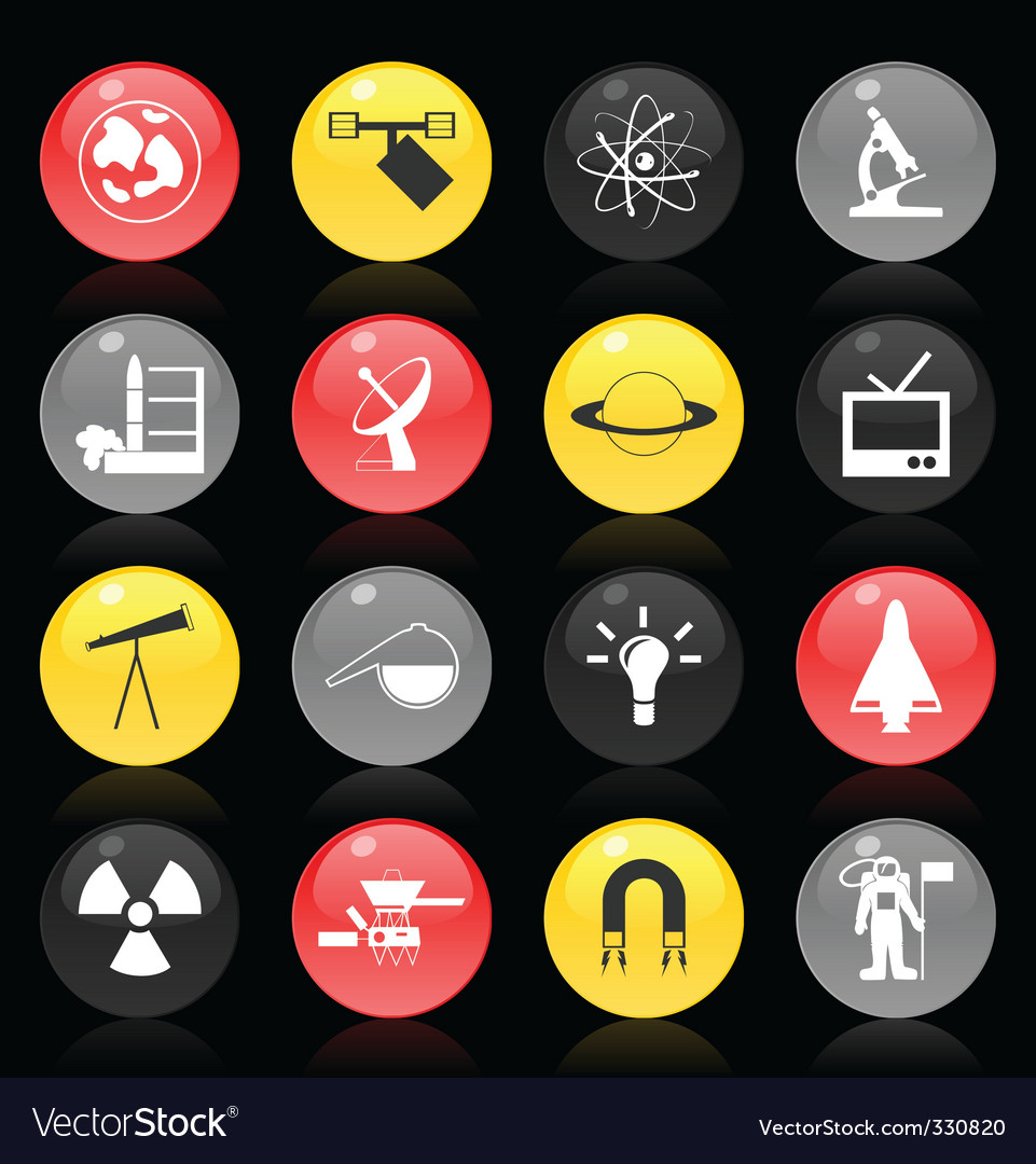 Scientific buttons vector | Price: 1 Credit (USD $1)