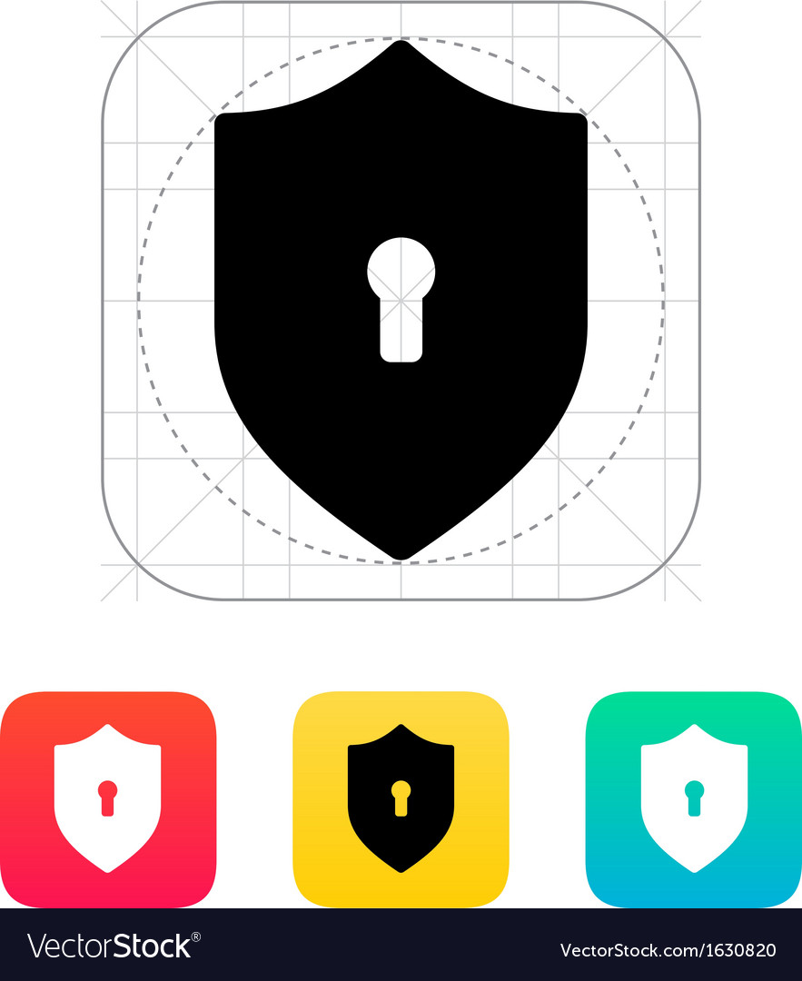 Shield icon vector | Price: 1 Credit (USD $1)