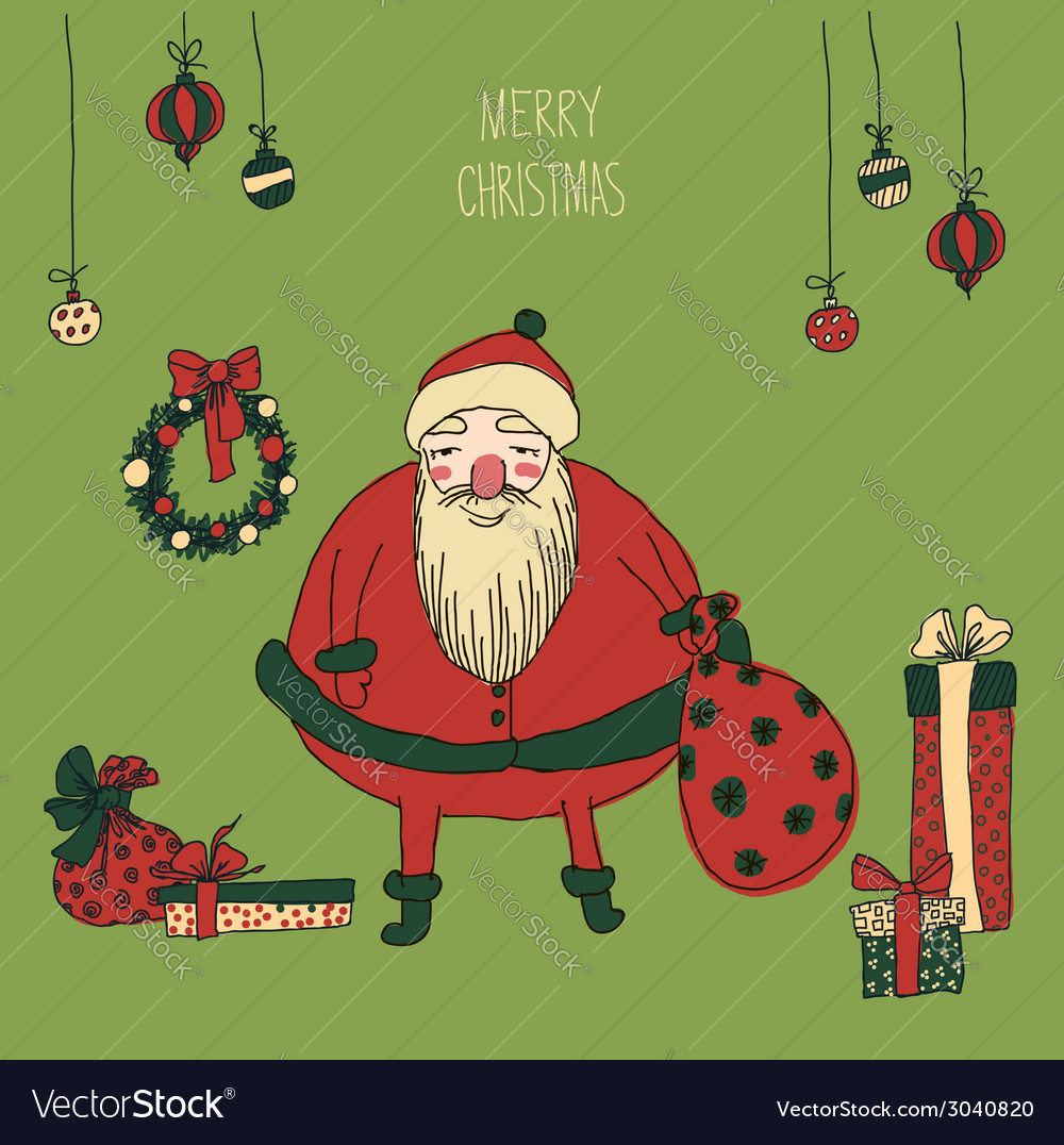 Vintage metal sign - merry christmas vector | Price: 1 Credit (USD $1)