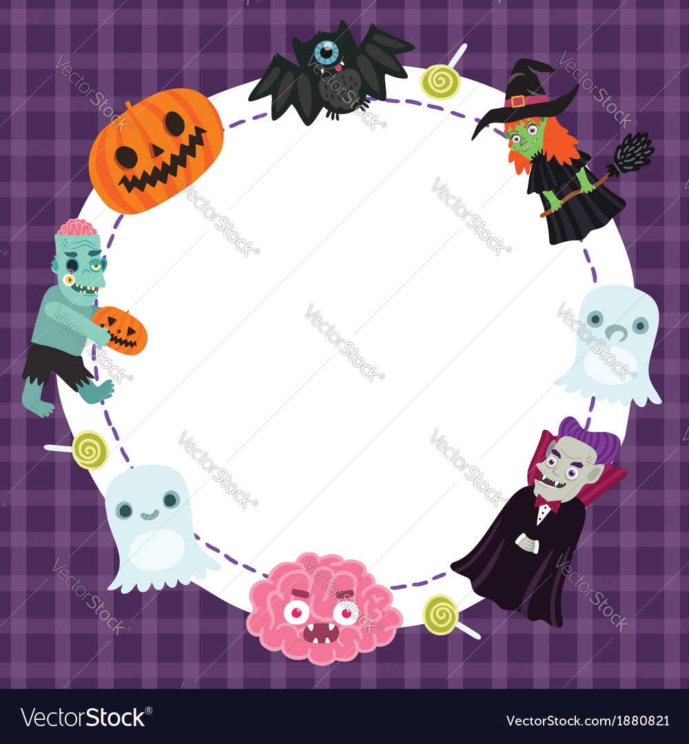 Halloween frame vector | Price: 1 Credit (USD $1)