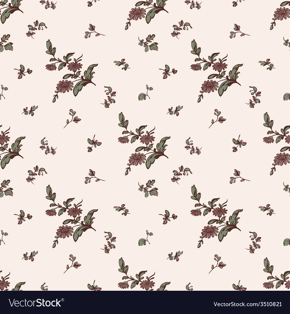Seamless floral pattern brown flower vector | Price: 1 Credit (USD $1)
