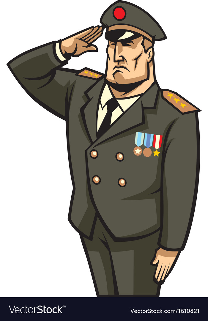 Soldier salute vector | Price: 1 Credit (USD $1)