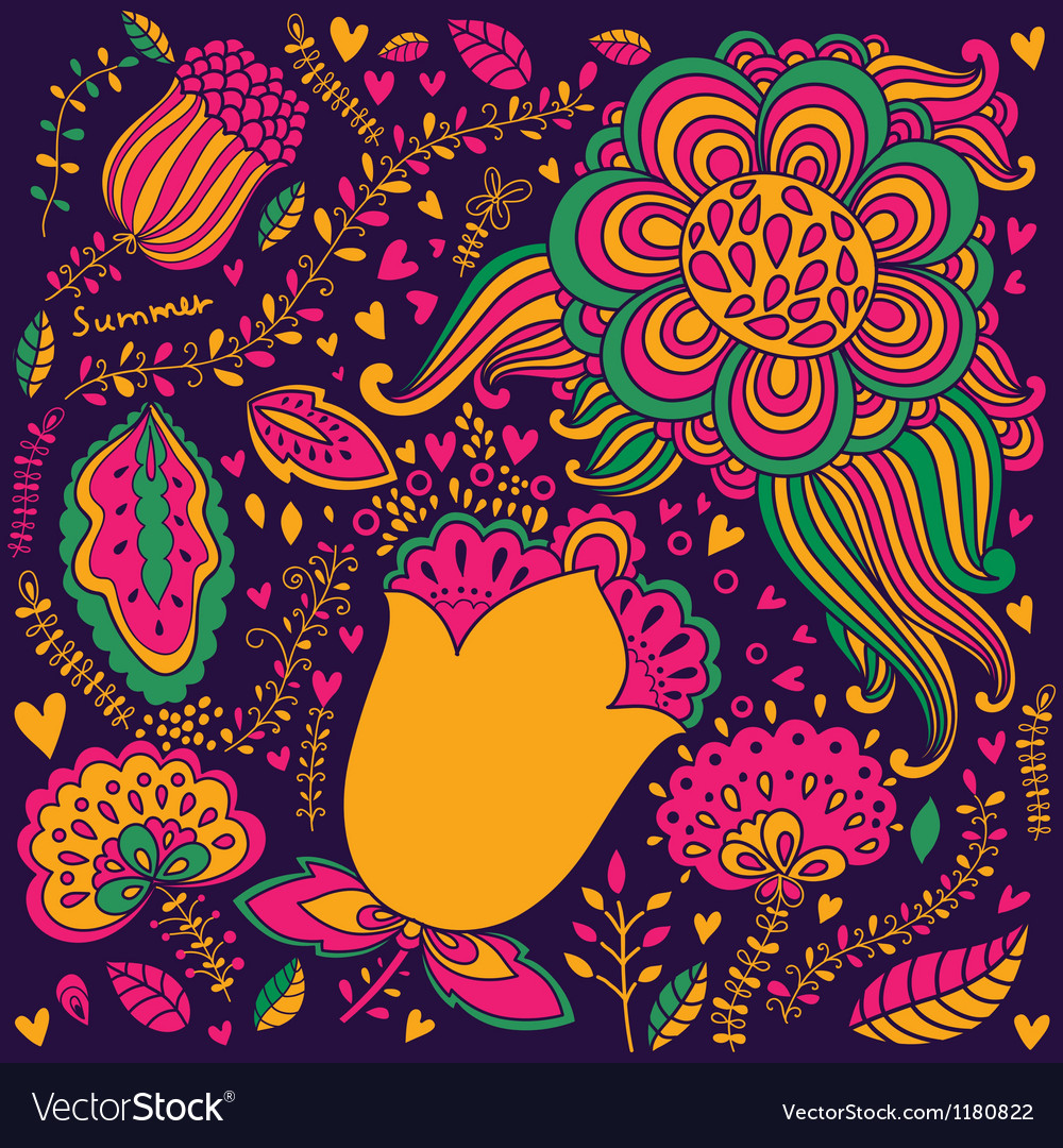 Abstract and colourful spring garden vector | Price: 3 Credit (USD $3)