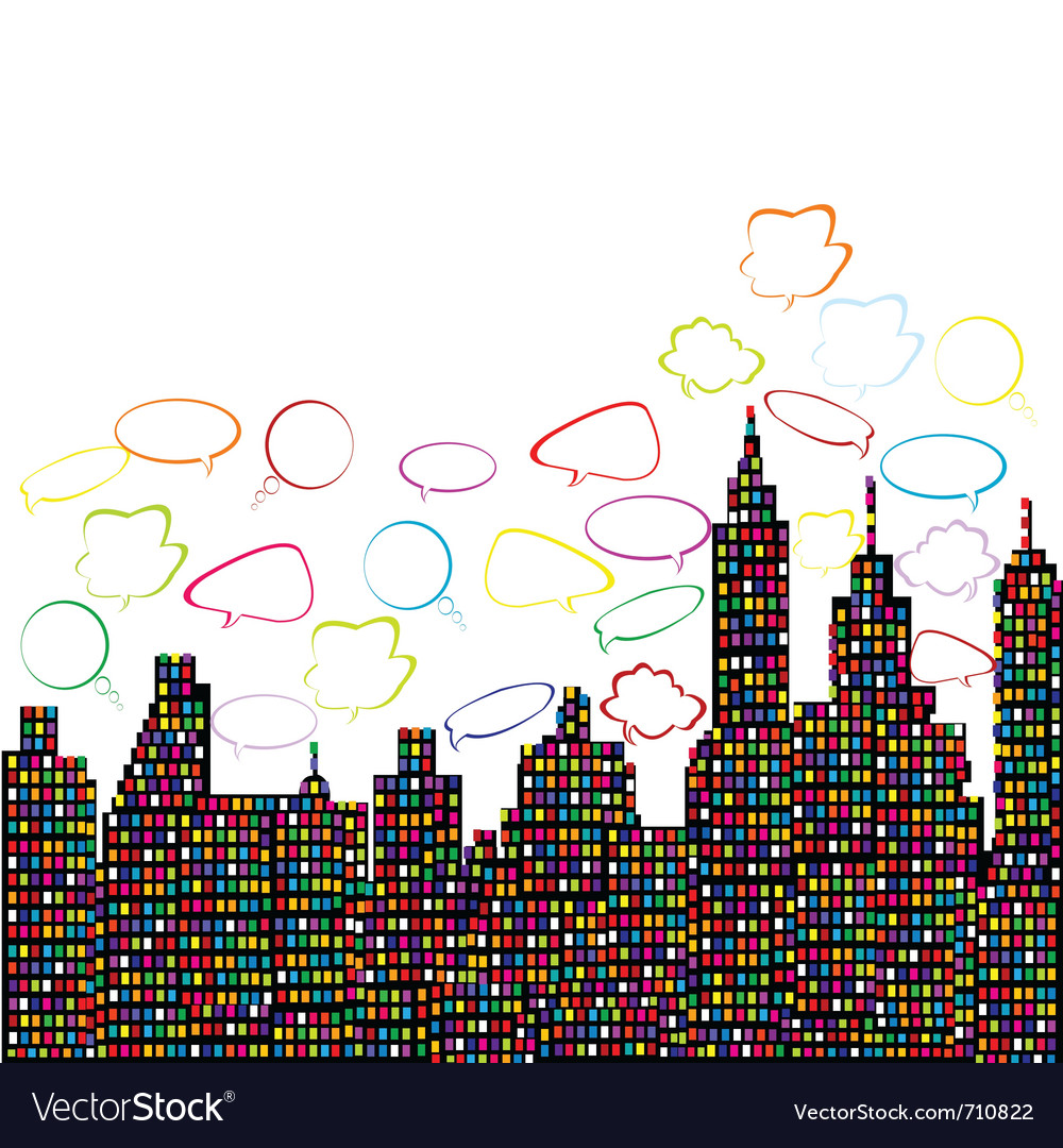 Abstract colored city vector | Price: 1 Credit (USD $1)