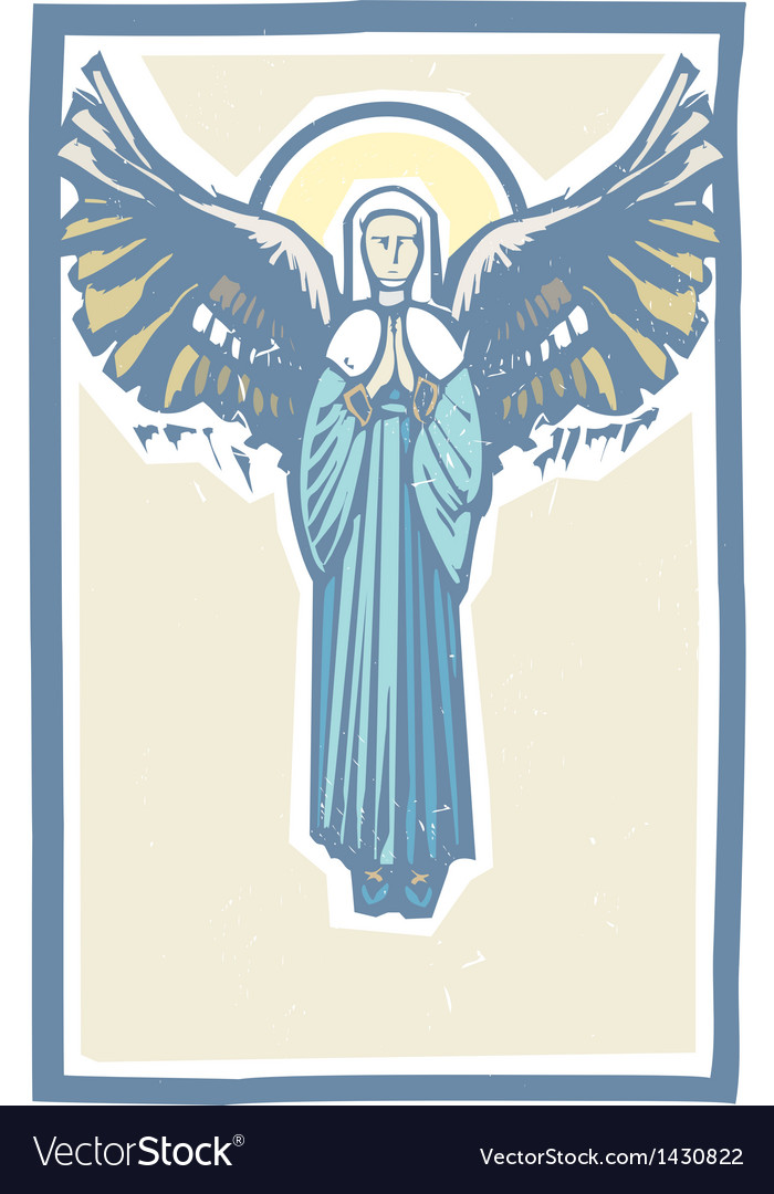 Angel winged virgin mary vector | Price: 1 Credit (USD $1)