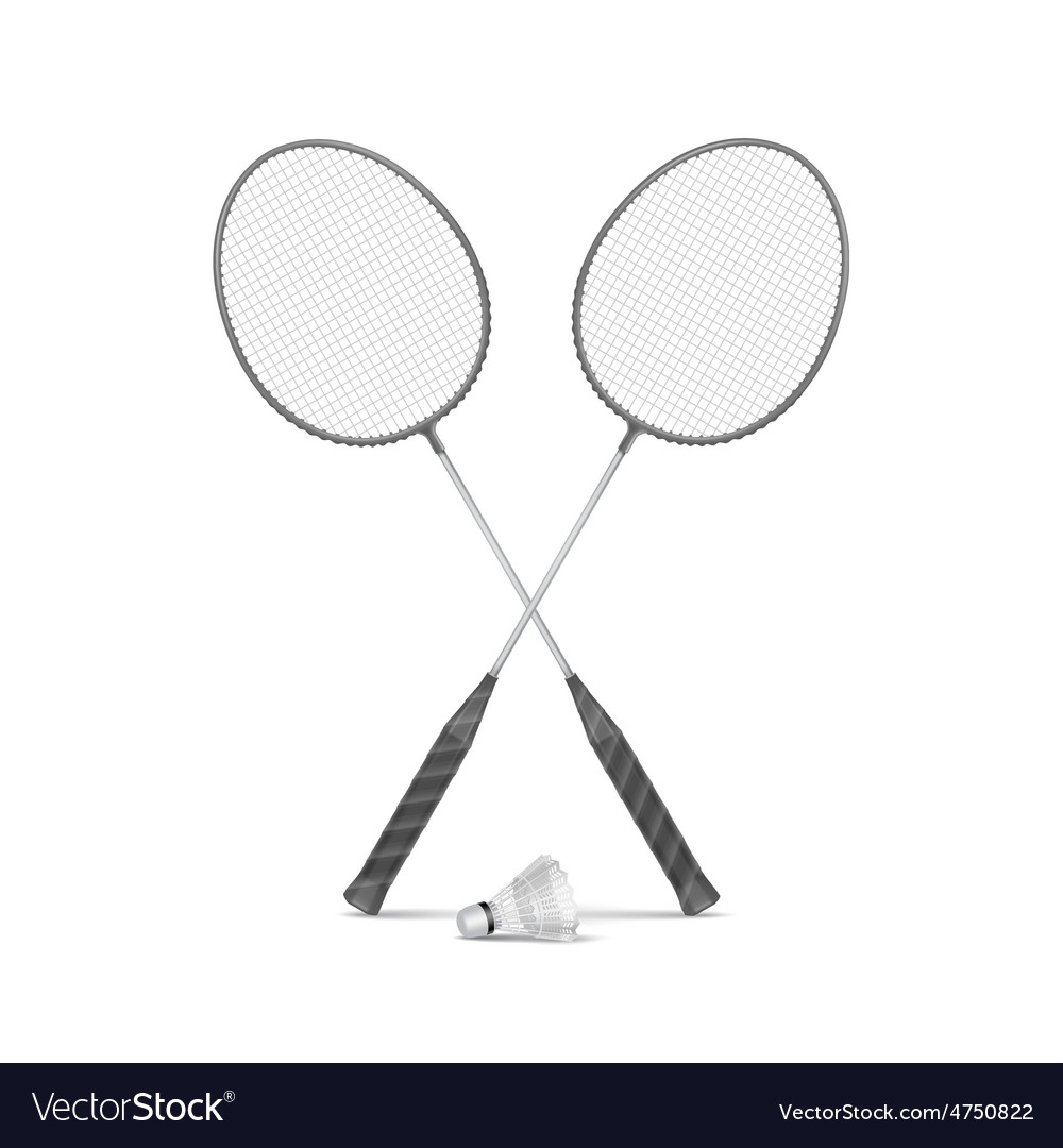 Badminton rackets with shuttlecock vector | Price: 3 Credit (USD $3)