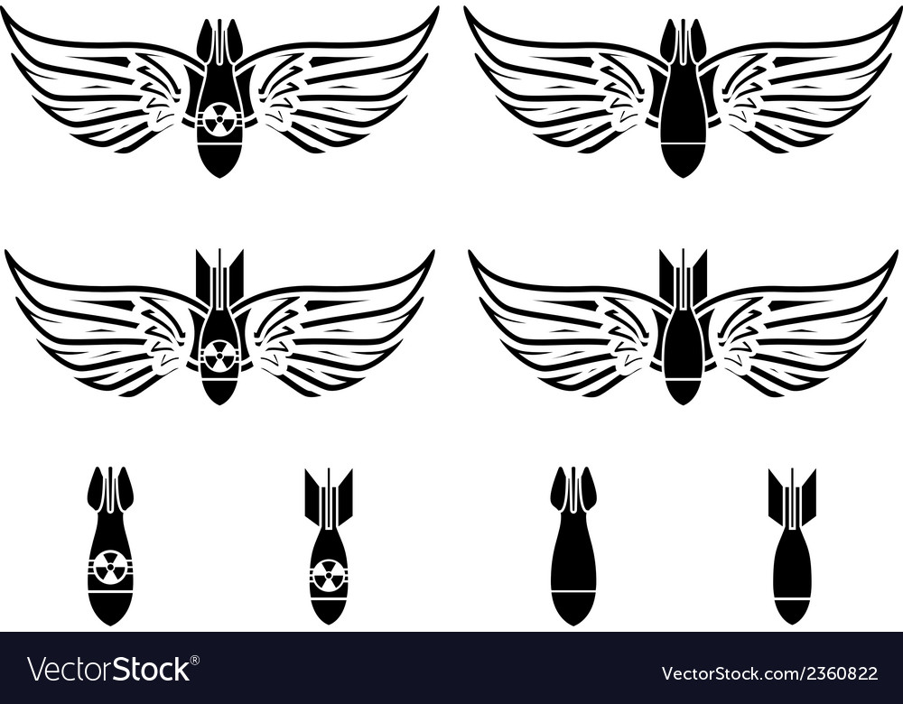 Bombs with wings vector   Price: 1 Credit (USD $1)