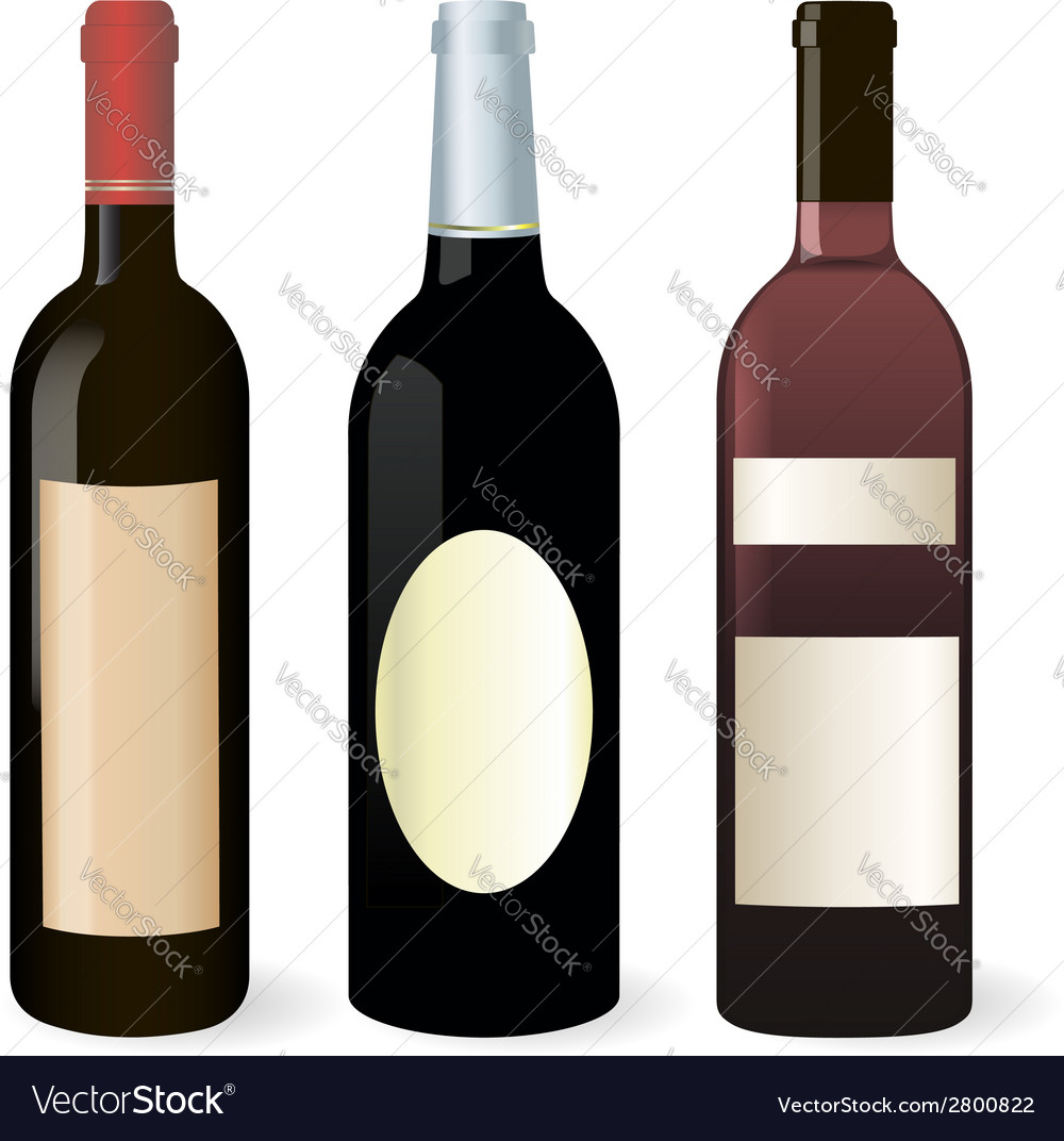 Bottles of wine set vector | Price: 1 Credit (USD $1)