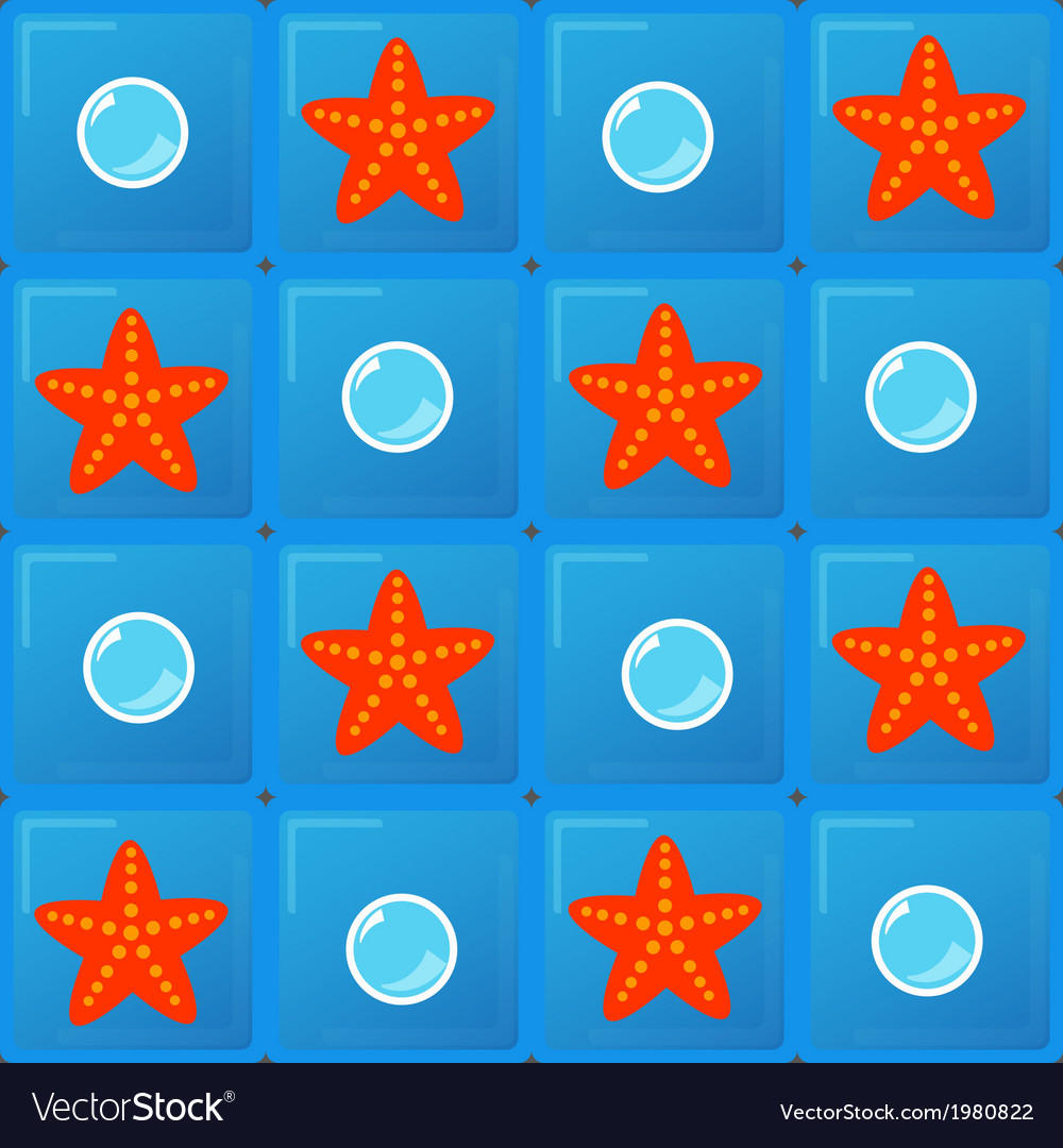 Bubbles and starfish vector   Price: 1 Credit (USD $1)