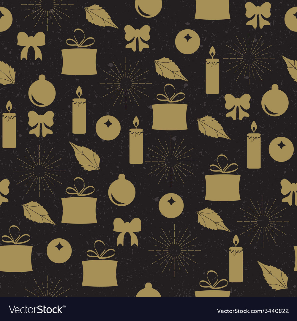 Christmas seamless pattern vector | Price: 1 Credit (USD $1)