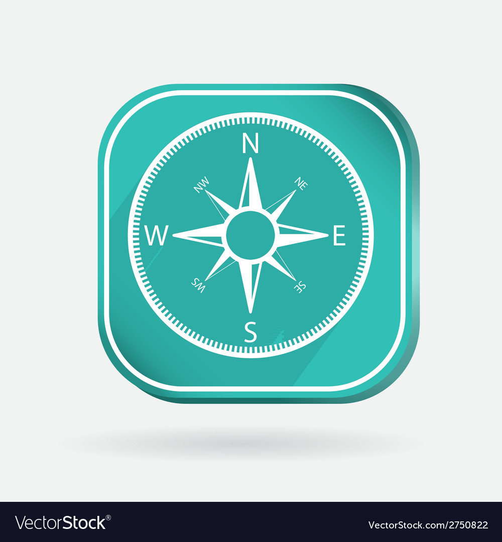 Color icon compass vector | Price: 1 Credit (USD $1)