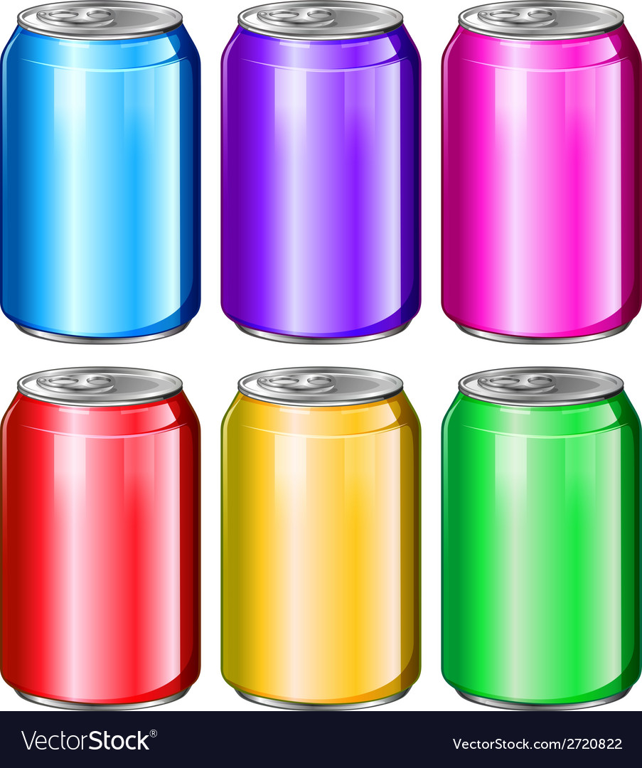 Colourful soda cans vector | Price: 1 Credit (USD $1)