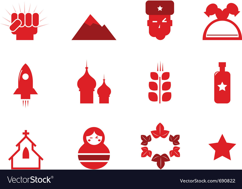 Communism and russia icons vector   Price: 1 Credit (USD $1)