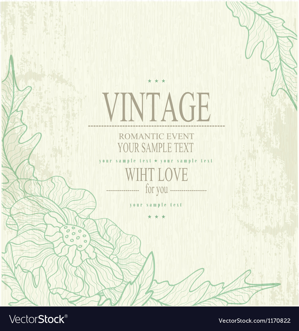 Congratulation vintage background vector | Price: 1 Credit (USD $1)