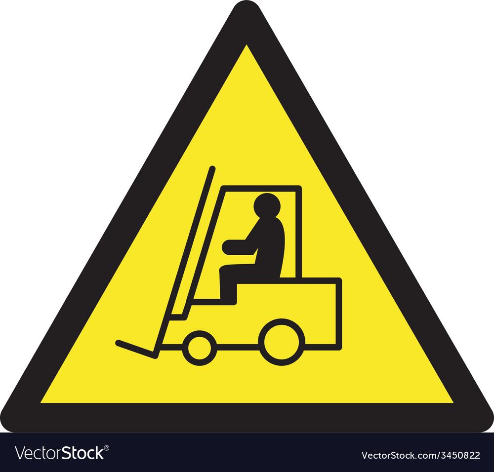 Danger forklift trucks safety sign vector | Price: 1 Credit (USD $1)