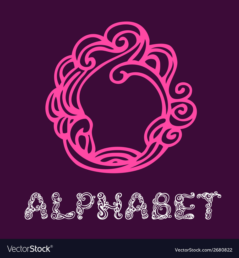 Doodle hand drawn sketch alphabet letter o vector   Price: 1 Credit (USD $1)
