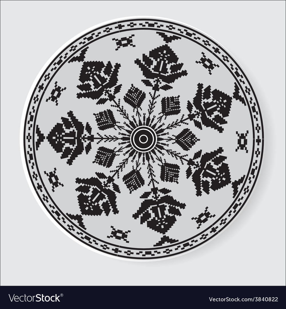 Ethnic ornament pattern vector | Price: 1 Credit (USD $1)