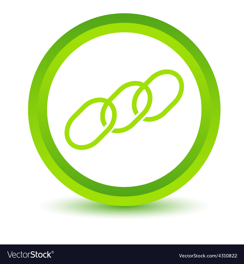 Green chain icon vector | Price: 1 Credit (USD $1)