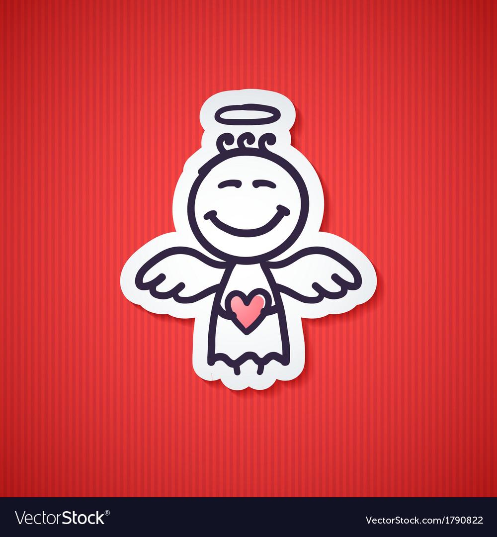 Hand drawn angel vector | Price: 1 Credit (USD $1)